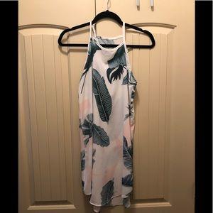 Dresses & Skirts - Palm tree high neck mini dress